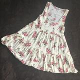 American Eagle Outfitters Dresses   Aeo Floral Babydoll Dress Size Xs   Color: White/Silver   Size: Xs