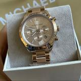Michael Kors Accessories   Michael Kors Rose Gold Oversized Layton Pale Rose Gold-Tone Watch   Color: Gold   Size: Os