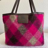 Burberry Bags | Burberry Wool Canvas Check Reversible Tote | Color: Black/Brown | Size: Os