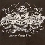 Disney Shirts   Disney Cruise Pirate T-Shirt   Color: White/Silver   Size: M