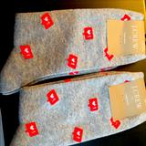 J. Crew Accessories | 2 Pairs Womens Socks | Color: White/Silver | Size: Os