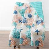 Montego Throw Blanket Multi Cool 50 x 60, 50 x 60, Multi Cool