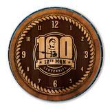 Brown Texas A&M Aggies 12th Man Centennial Barrelhead Clock