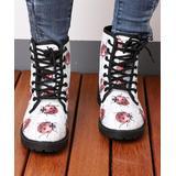 RXFSP Women's Casual boots White - White Ladybug Martin Leather Combat Boot - Women
