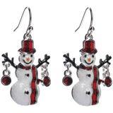 Brighten the Season Snowman Enamel Drop Earrings