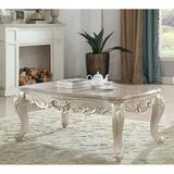 GZ Boutique Gorsedd Coffee Table In Marble & Antique in White, Size 20.0 H x 60.0 W x 32.0 D in | Wayfair 82440-H