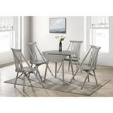 Picket House Furnishings Nyle Round Folding 5PC Dining Set In Walnut in Gray, Size 29.0 H in   Wayfair CDJN300BW5PC