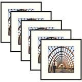 "Ebern Designs 5 Piece 8"" X 8"" Metal Gallery Wall Set Frame Set in in Black, Size 13.0 H x 13.0 W x 0.75 D in | Wayfair"