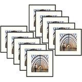 "Ebern Designs 10 Piece 8"" X 8"" Metal Gallery Wall Set Frame Set in in Black, Size 13.0 H x 13.0 W x 0.75 D in | Wayfair"