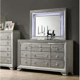 "House of Hampton® Criztian 10 Drawer 66"" W Dresser Wood in Brown/Gray, Size 41.0 H x 66.0 W x 18.0 D in | Wayfair EFD2665D956A4E6F8E08E9132F443106"