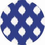 Dakota Fields 9_Ikat Lattice Soft Chenille Rug Chenille in Blue/Brown/White, Size 0.13 D in | Wayfair 8913CF4655904480A0A5C834AEB24371