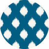 Dakota Fields 7_Ikat Lattice Soft Chenille Rug Chenille in Blue/Brown/Green, Size 0.13 D in | Wayfair B38DAC6DC9024F66B1B8B1367EA45B87