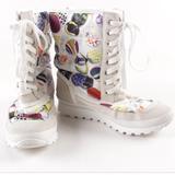 Coach Shoes   Coach White Button Print Dorean Fall Winter Fashion Snow Boots Size 5.5 Warm Euc   Color: Black/White   Size: 5.5