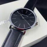 Michael Kors Accessories   Michael Kors Auden Black Leather Strap Mens Watch Mk7145 New!   Color: Black/Silver   Size: Os