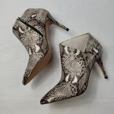 Jessica Simpson Shoes | Jessica Simpson Anzel Glossy Desert Snake Print Ankle Bootie Size 8.5 | Color: Black/White | Size: 8.5
