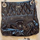 Coach Bags | Coach Black Patent Leather & Silver Chain Handbag Purse | Color: Black/Silver | Size: Os