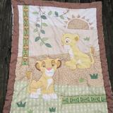 Disney Other | Disney Baby Lion King Quilted Crib Comforter Simba Nala Crown Crafts 33x42 | Color: Brown/Green | Size: Osbb