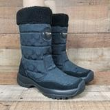 Coach Shoes | Coach Sonya Women 10 B Signature Logo Boot Black Winter Fur Mid Calf Warm Vibram | Color: Black | Size: 10