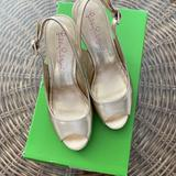 Lilly Pulitzer Shoes | Lilly Pulitzer Kristin Wedge Size 6 | Color: Gold | Size: 6