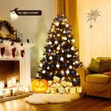 The Holiday Aisle® 6ft Artificial Christmas Tree Halloween Hinged Spruce Full Tree w/ Metal Stand in Black, Size 91.2 H x 51.6 W in   Wayfair