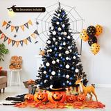 The Holiday Aisle® 6ft Artificial Christmas Tree Halloween Hinged Spruce Full Tree w/ Metal Stand in Black, Size 72.0 H x 44.4 W in   Wayfair
