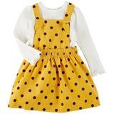 Little Me Baby Girls 2-pc. Polka Dot Jumper Set