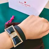 Kate Spade Jewelry | Kate Spade Rare Crystal Bow Leather Bracelet | Color: Cream | Size: Os