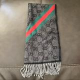Gucci Accessories | Gucci Scarf Wool Angora 100% Authentic | Color: Black | Size: Os