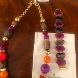 Kate Spade Jewelry | Kate Spade Necklace And Bracelet | Color: Gray/Purple | Size: 20 Inch Necklace 8 In Bracelet