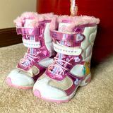 Disney Shoes | Disney Princess Charm Snow Boots Size 7 | Color: Pink/White | Size: 7bb