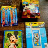 Disney Party Supplies | Mickey Mouse Birthday Party Lot | Color: Black | Size: Os