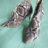 Jessica Simpson Shoes | Jessica Simpson Snake Skin High Heels Ankle Boot | Color: Green | Size: 6