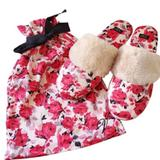Victoria's Secret Shoes   New Victorias Secret Floral Slippers   Color: White/Silver   Size: 5.5