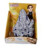 Disney Toys   Disney Star Wars Scenez Millennium Falcon Han Solo Plush Doll Toy Set   Color: Gray/White   Size: Os
