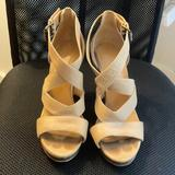 Nine West Shoes | Nine West Strappy Heeled Sandals | Color: Brown/Tan | Size: 5.5