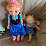 Disney Toys | 2 Frozen Dolls | Color: Black | Size: Osg