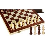 CROSTER Upgraded Magnetic Chess Set, Wooden Chess Board Game Set w/ Crafted Chesspiece & Storage Slots For Adult, Size 24.0 H x 16.1 W in   Wayfair