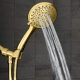 kingzone Series, 6 Spray Settings 5 Inch Hand Held Shower Head, Long Stainless Steel Hose,Your Shower w/ Handheld Showerhead In Finish in Yellow