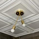 Corrigan Studio® Fontainbleau Semi Flush Ceiling Mounted Light Fixture in Yellow, Size 14.5 H x 7.0 W x 5.0 D in   Wayfair