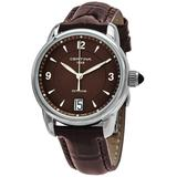 Ds Podium Brown Dial Brown Leather Watch 00 - Brown - Certina Watches