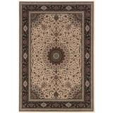 Ariana Indoor Area Rug in Ivory/ Black - Oriental Weavers A095I8240240SQ