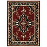 Lilihan Indoor Area Rug in Red/ Black - Oriental Weavers L092R6060092ST