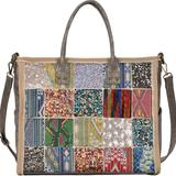 Anthropologie Bags | Anthropologie Antik Kraft Patchwork Tote | Color: Red | Size: Os