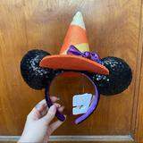 Disney Accessories | Halloween Minnie Ears Witch Hat Nwt | Color: Brown | Size: Os