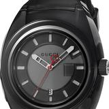 Gucci Accessories   Gucci Quartz Stainless Steel And Rubber Casual Black Men'S Watch   Color: Black   Size: Os