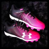 Under Armour Shoes | Girls Pink Under Armour Youth Sz 5 Soccer Shoes | Color: Black | Size: 5g