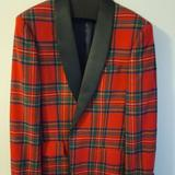 J. Crew Suits & Blazers   J. Crew Ludlow Slim-Fit Dinner Jacket In Red Stewart Italian Wool- New With Tags   Color: Black/Red   Size: 38r