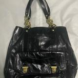 Coach Bags | Coach Black Leather Poppy Hobo Bag | Color: Black/Gold | Size: Os