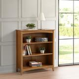 """Winston Porter Mccrory 30"""" W Solid Wood Standard Bookcase Wood in White, Size 36.0 H x 30.0 W x 13.0 D in 