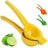KATIER Lemon Lime Squeezer, Citrus Hand Juicer, Premium Quality Metal Orange Juice Squeezer in Yellow, Size 2.4 H x 2.9 W x 8.4 D in | Wayfair